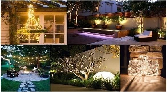 تصميم اضاءات حدائق منزلية